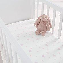 Silentnight Kids Pink Star Crib Cotton Fitted