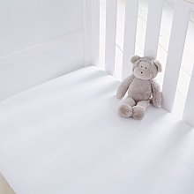 Silentnight Kids White Cot Cotton Fitted Sheets