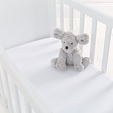 Silentnight Kids White Crib Cotton Fitted Sheets