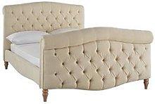 Silentnight Lucia Fabric Bed Frame - Cream