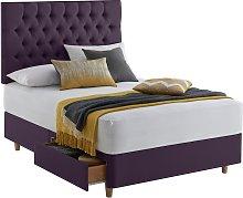 Silentnight Sassaria 2 Drawer Double Divan - Purple