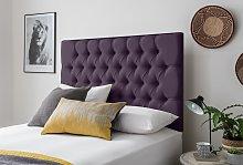 Silentnight Sassaria Double Headboard - Purple