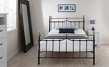 Silentnight Sydney Metal Black Bed Frame, King Size