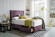 Silentnight Toulouse Velvet Double Divan - Purple