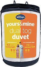 Silentnight Yours and Mine 4.5/ 7.5 Tog Duvet -