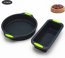 Silicone Baking Moulds Pan Round Tins BPA-Free