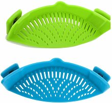Silicone colander with 2 folding funnels - Connect