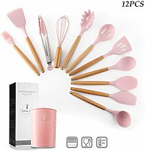 Silicone Cooking Utensils, 12pcs Silicone Cooking