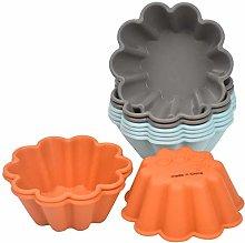 Silicone Cupcake Moulds,10pcs Reusable Cake Baking