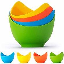 Silicone Egg Poacher Cups, Set of 4 DIY Egg