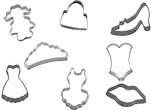 Silicone Gold Girls Set Cutters Biscuit,