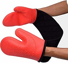 Silicone Heavy Duty Double Oven Gloves Mitts,