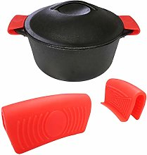 Silicone Hot Handle Holder (2-Pack) for Cast Iron