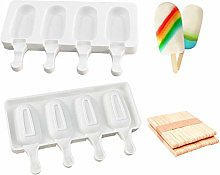 Silicone Ice Cream Mould, Ice Lolly Mold with 20