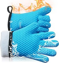 Silicone Kitchen Gloves and Cotton Double Layer