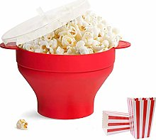Silicone Microwave Popcorn Popper with Lid and