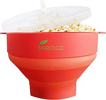 Silicone Microwave Popcorn Popper with Lid for