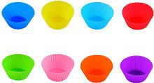 Silicone muffin cup, cake cup, 8-color 24pcs