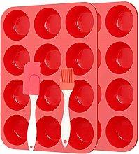 Silicone Muffin Trays Set and Spatula,