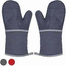 Silicone Oven Gloves, Long Gauntlet Oven Gloves