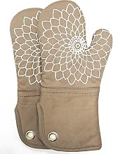 Silicone Printing Oven Mitts/Gloves 1 Pair, Heat