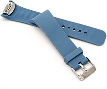 silicone replacement bracelet grey-blue for