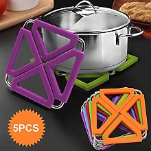 Silicone Trivet Mat Expandable Hot Pot Holder with