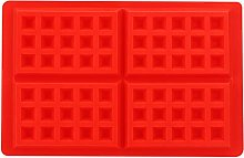 Silicone Waffle Molds, 4 Cavities Rectangle