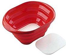 silikomart Silicone Foldable Colander, Red