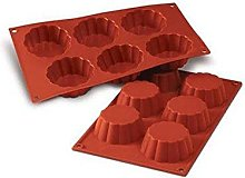silikomart Silicone Mould Fluted Brioche, Shallow,