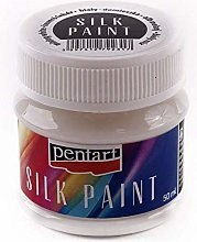 Silk Color White 50ml, Pentart, Colors, Textile