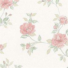 Silk Impression Floral Wallpaper Soft Pink Flowers