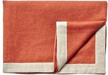Silkeborg - Orange Alpaca Wool Mendoza Blanket -