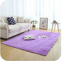 Silky Fluffy Carpet Modern Home Decor Long Plush
