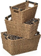 Silsbee Seagrass 3 Piece Basket Set Brambly Cottage