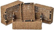Silsbee Seagrass 4 Piece Basket Set Brambly Cottage
