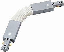 Silver 240V Single Circuit Track Flexible
