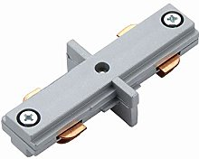 Silver 240V Single Circuit Track Internal Joint