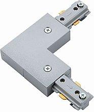 Silver 240V Single Circuit Track L Shape Connector
