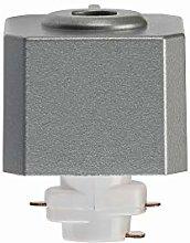 Silver 240V Single Circuit Track Pendant Adaptor