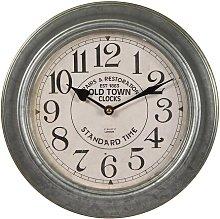 Silver 30cm Wall Clock Borough Wharf