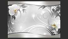 Silver Abstract 2.45m x 350cm Wallpaper East Urban