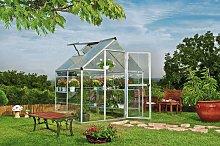 Silver Aluminium Hybrid Greenhouse - 6 x 4ft