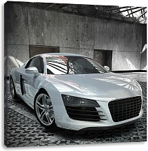 Silver Audi R8 Art Print on Canvas East Urban Home
