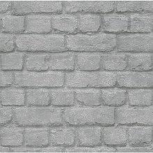 Silver Brick Wallpaper - 226751 - Rasch