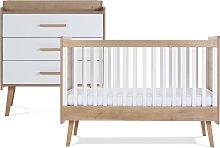 Silver Cross Westport Cot Bed and Dresser Set -
