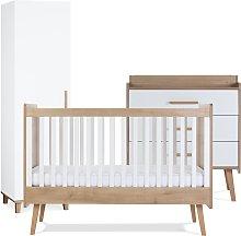 Silver Cross Westport Cot Bed Dresser Wardrobe Set