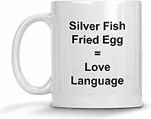 Silver Fish Fried Egg = Love Language Mug - 11 oz