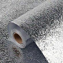 Silver Foil Wallpaper Kitchen Self Adhesive