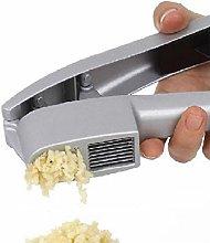 Silver Garlic Press and Slicer 2 in 1